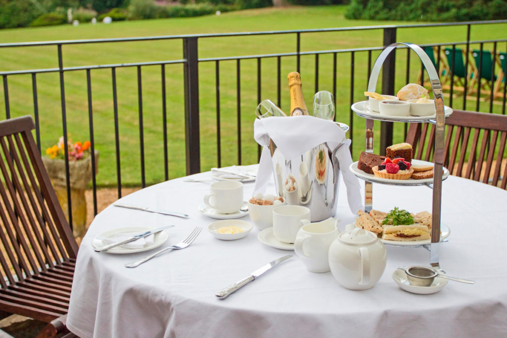 Afternoon Tea North East England: Enjoy an alfresco afternoon tea at Gringle park Hotel, North Yorkshire in warm weather.