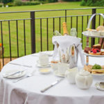 Enjoy an alfresco afternoon tea at Gringle park Hotel, North Yorkshire in warm weather.