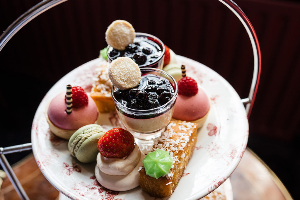 Tempting sweet treats for afternoon tea at Lumley Castle