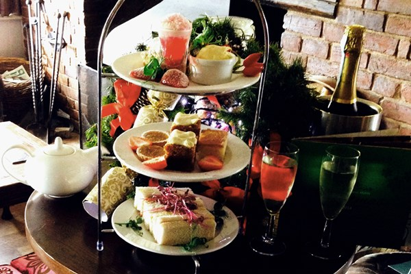 The mouthwatering afternoon tea at the Mill Hotel, Sudbury, Suffolk