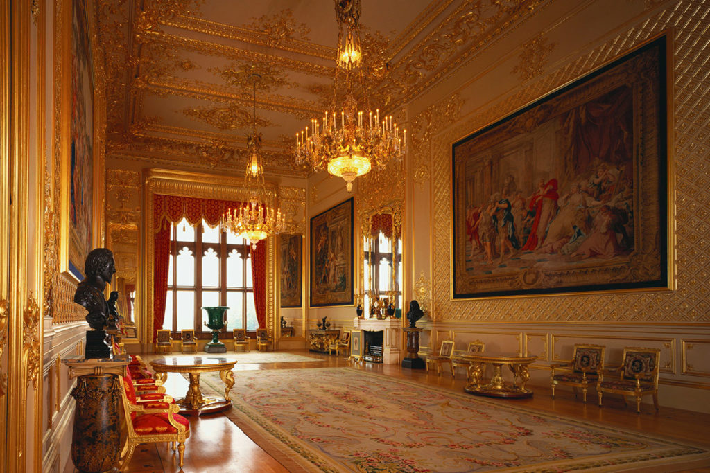 View the stunning State Rooms during your visit to Windsor Castle, Buckinghamshire