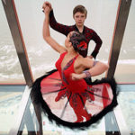Blackpool Tower dancers on a glass floor with stunning views overlooking Blackpool