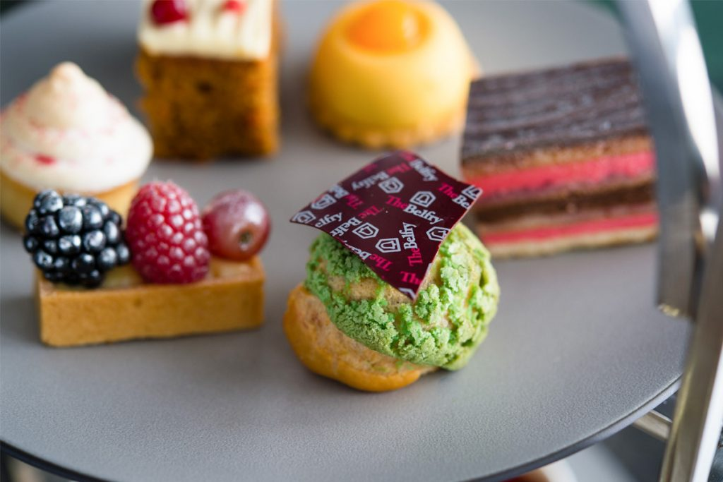 Gorgeous sweet treats for afternoon tea at The Belfry in the heart of the Midlands.