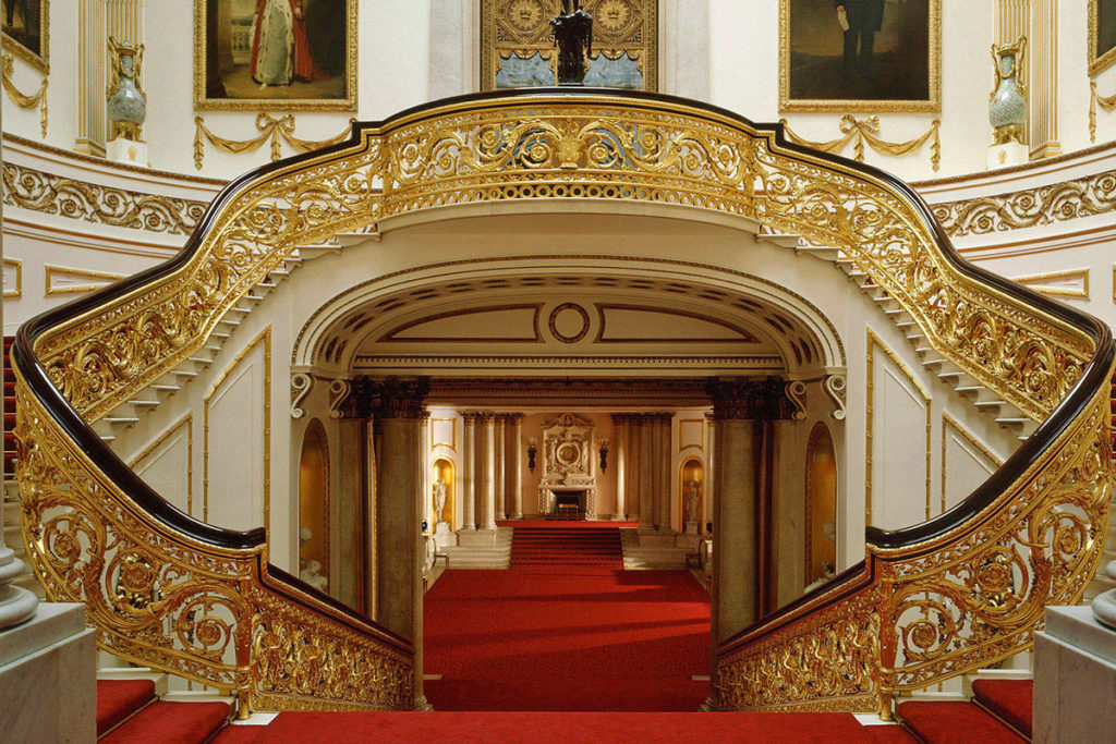 Grand Stair case for viewing as part of your visit and tour Buckingham Palace State rooms