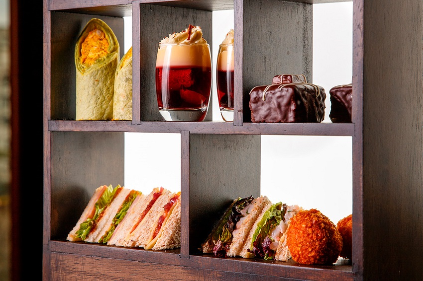 Manchester themed afternoon tea at the Mercure Hotel, Piccadilly Manchester
