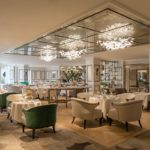 The beautiful Park Room at the Grosvenor House Hotel where afternoon tea is served in london.