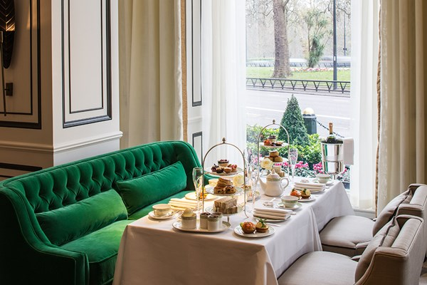 Beautiful views across Hyde Park at the Grosvenor House Hotel, London.