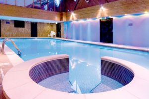 A relaxing pool at a Macdonald spa hotel