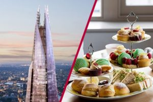 View from the Shard and Luxury Afternoon Tea at nearby venue, a best value afternoon tea in London