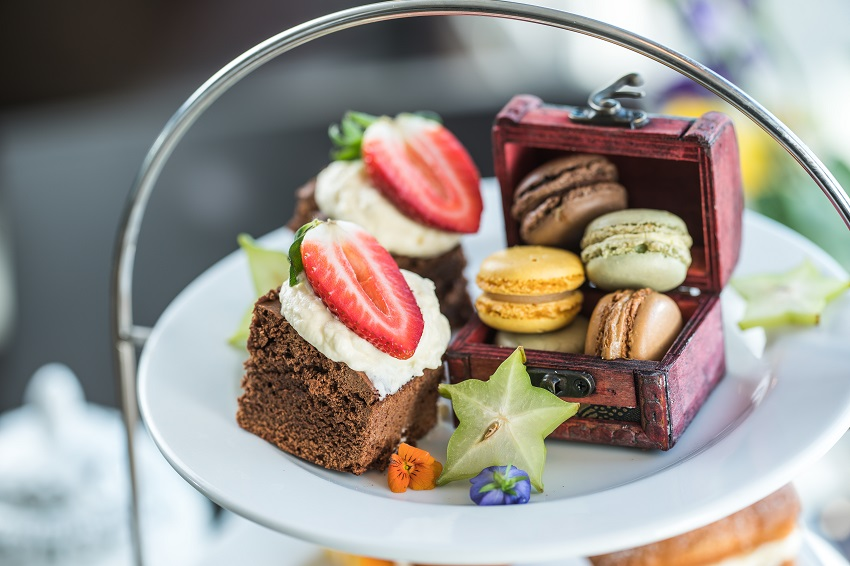 Sweet treats for afternoon tea at The Yacht, London.