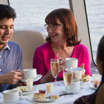Champagne Cream Tea on board a Thames River Cruise, London.
