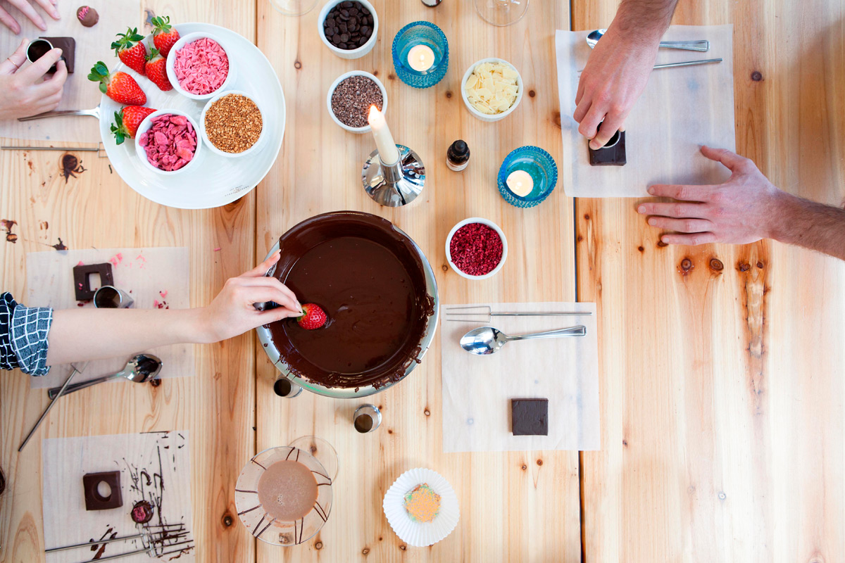 Sweet treats at this delicious chocolate making workshop in London.