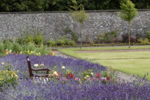 Enjoy at afternoon tea at Cringletie House Hotel in Peebles, in the Scottish borders and explore the beautiful gardens filled with purple lavender in Summer.