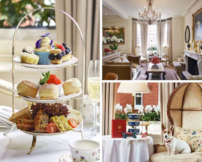 Afternoon tea at the Egerton House Hotel, London.