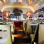 All aboard this stylish routemaster 66 for a gin afternoon tea bus tour of Glasgow.