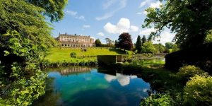 The stunning grounds of Cowley Manor in the Cotswolds.