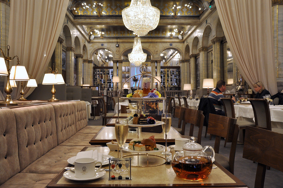 Afternoon Tea at the Criterion Restaurant, Savini's London