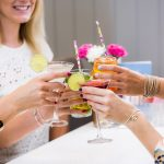 Great ideas for quirky things to do in London for your next girls day out - a Hunky Dory manicure with cocktails.