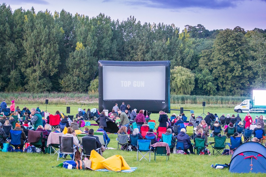 Enjoy a night under the stars watching your favourite movie with an open air cinema experience in the Midlands.
