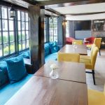 Enjoy afternoon tea in Emma's Room, with it's wooden beams at the Talbot Hotel, Surrey