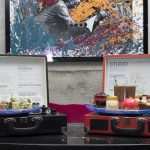 Glam Rock Afternoon Tea served on a turntable at K West, london