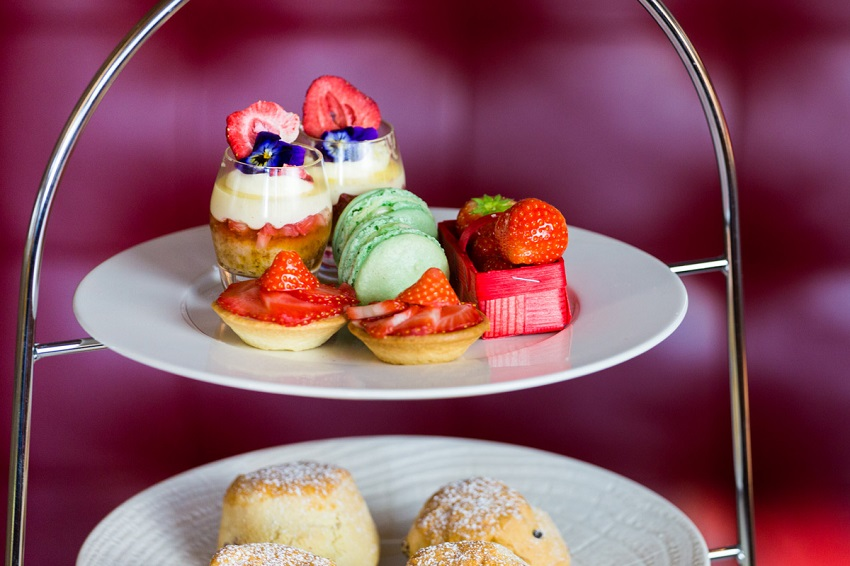 Sweet treats for afternoon tea at Abode, Glasgow. Special afternoon tea offer in Glasgow city centre.
