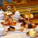 Afternoon tea at the Bentley Hotel, Kensington Hotel, London.