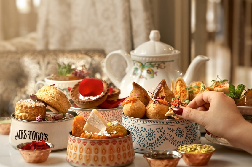 Enjoy decadent Indian sweet treats for afternoon tea at Mrs Flogg's Maritime club and Distillery
