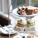 A tempting selection of cakes and pastries for afternoon tea at Dover Marina Hotel & Spa, Kent.