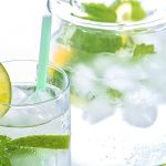 A delicious gin and tonic recipe made from peppermint tea and including fresh mint.