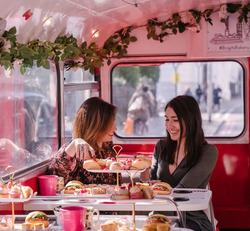 Enjoy a great day out in London with Brigit Bakery's London Afternoon Tea Bus Tour