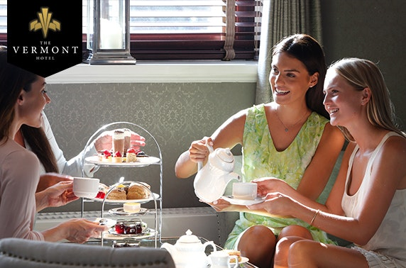 Ladies enjoying afternoon tea at the Vermont Hotel Newcastle Upon Tyne