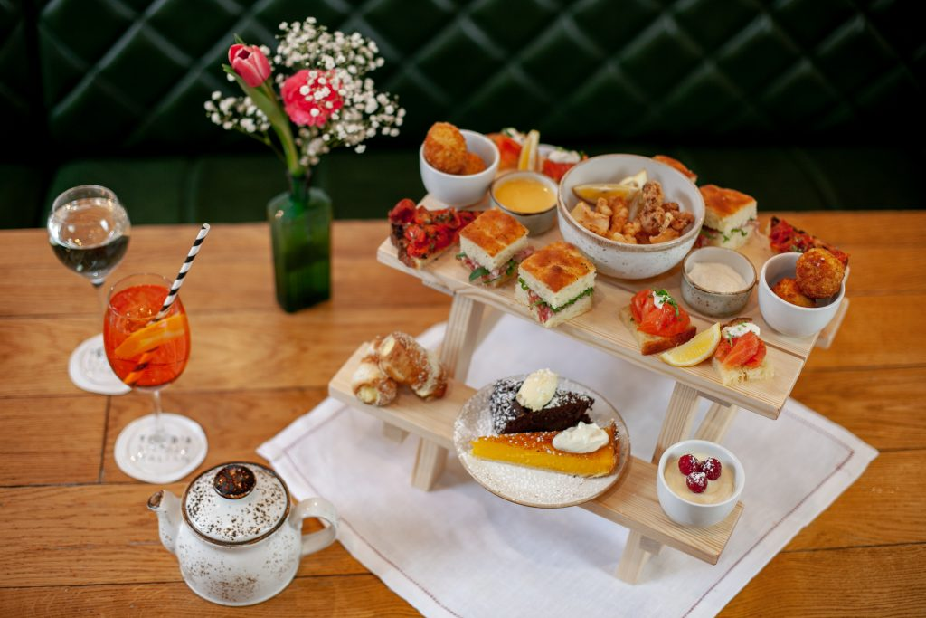 Afternoon Tea at Theo's Simple Italian, Kensington, London
