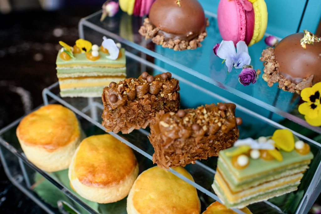 Sumptuous cakes and pastries for afternoon tea at Twenty Stories High, Manchester