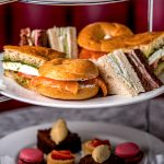 Delicious savouries and sweet treats served for high tea in Covent Garden at the Palm Court Brasserie