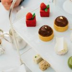Delicious bite size cakes for afternoon tea at Harrods in London