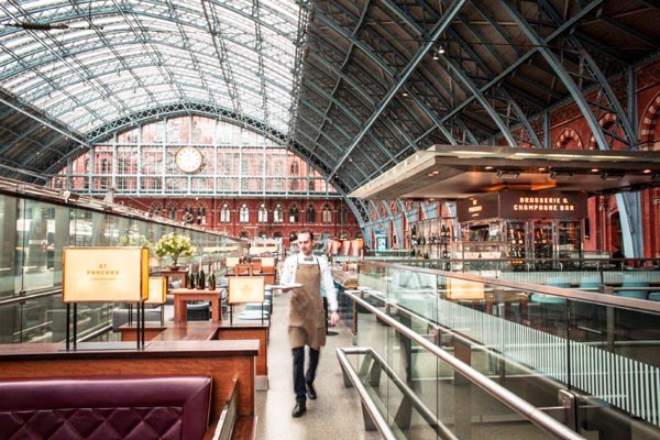 Searcys Afternoon Tea, St Pancras Station, London.