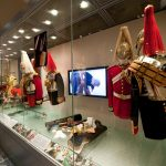 Household Cavalry cabinet displays, London.