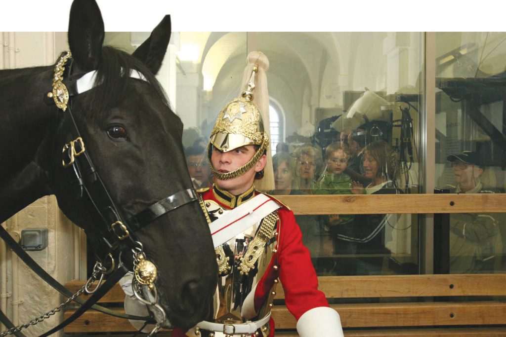 A behind the scenes look at the Household Cavalry Museum, London.