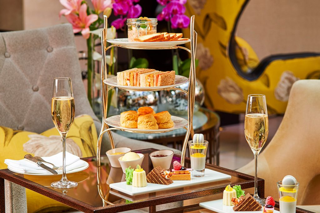Afternoon tea at Conrad St James, London.