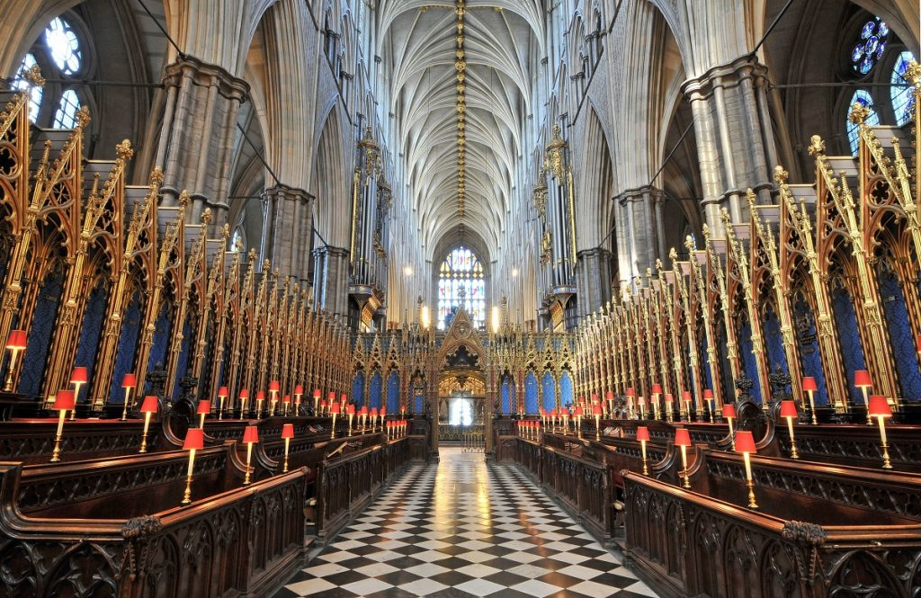 The Quire at Westminster Abbey to be enjoyed as part of a visit.