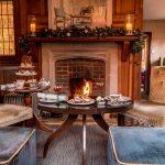 Christmas afternoon tea at Langshott Manor, 2021.