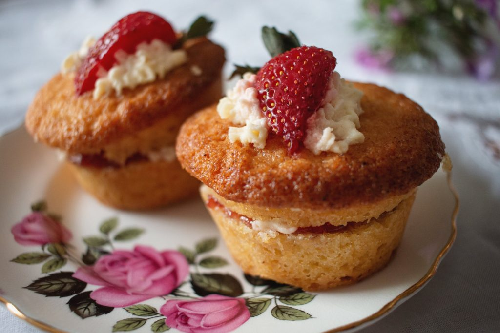 Freshly made cakes for afternoon tea delivered to your door
