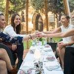 Enjoy a girls day out with afternoon tea in a Dome at the London Secret Garden, Kensington.