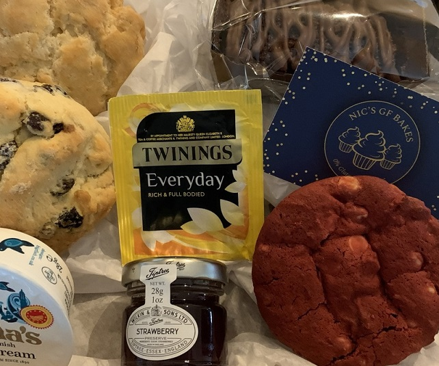 Gluten free cream tea and bakes available for home delivery UK wide