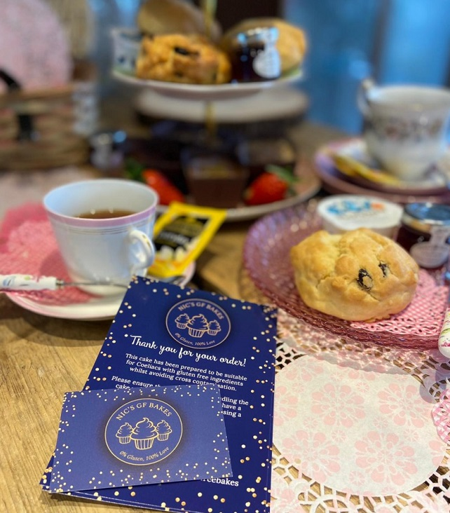 Gluten free afternoon tea delivery direct to your door. Cream tea available too.