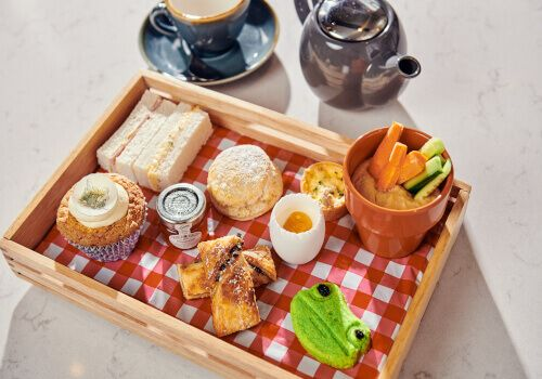Savoury selection for Wind in the willows Afternoon Tea